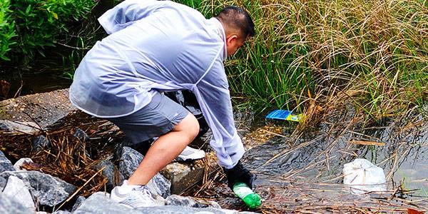 Tápió patak hulladékmentesítése